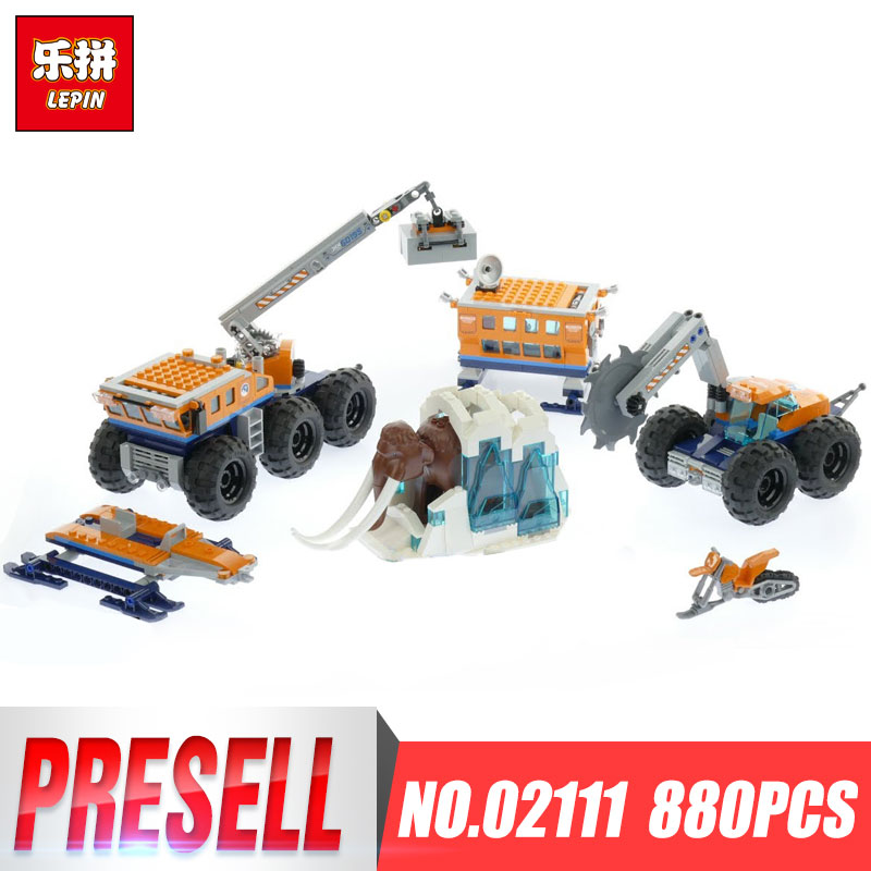 Lepin 02111 City Series The 60195 Arctic Mobile Exploration Base Set Building Blocks Bricks Car Model Kids Toys Birthday Gifts