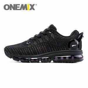 Image 1 - ONEMIX mode hommes dessus réfléchissants chaussures décontractées femmes Air course chaussures baskets légères marche formateurs