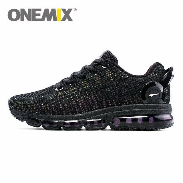 ONEMIX mode hommes dessus réfléchissants chaussures décontractées femmes Air course chaussures baskets légères marche formateurs