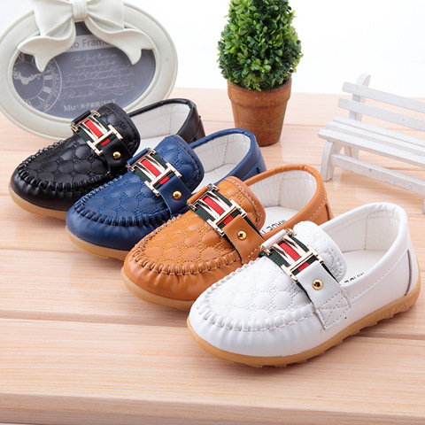 shoes autumn new children leather shoes shoes and Doug Dichotomanthes soft bottom anti-skid breathable baby shoes