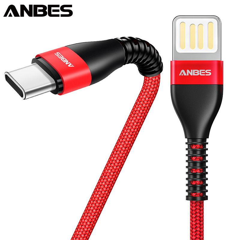 ANBES Micro USB Cable Type C Fast Charge USB Data Cable For Samsung Xiaomi Huawei Tablet Android Mobile Phone USB Charging Cord