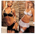 2016 nova plus size mulher super sexy de broto de seda pijamas hot garter set transparente a