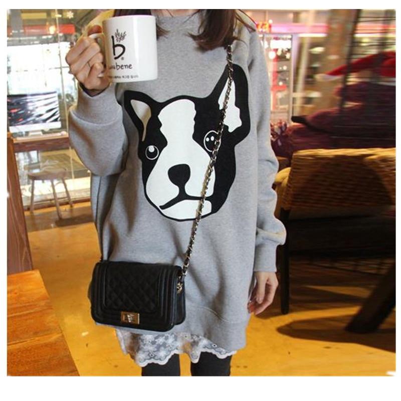 Plus size Mutterschaft Stillen Kleidung Herbst plus dicke Samt einteiliges Kleid mittel-lange Stilloberteil Sweatshirt B0015