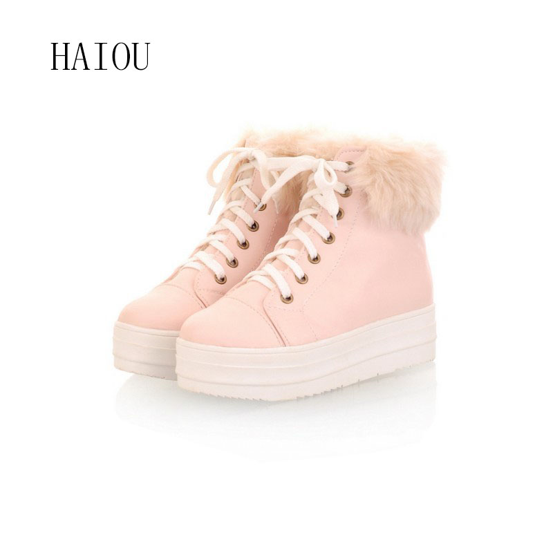 New  Platform Women's Ankle Boots Sexy Women Boots Elegant Snow Boots High Quality Fashion Boots Shoes Woman 3 Colors Size 34-39 стоимость