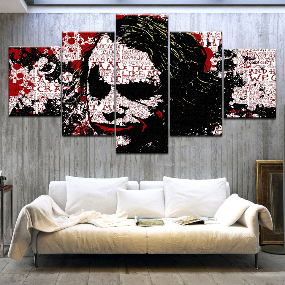 5Panel HD Printed A women Individuality portrait graffiti Print On Canvas Art Painting For home living room decoration