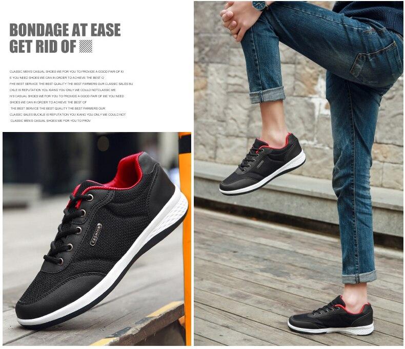 2019 Autumn New  Men Shoes Lace-Up Men Fashion Shoes Microfiber Leather Casual Shoes Brand Men Sneakers Winter Men FLats