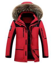 Winter Casual Canada Mens Fur Collar Coat Army Green Outwear Coats Man Jacket Ropa Hombre Winter Jacket Men Parka Coats
