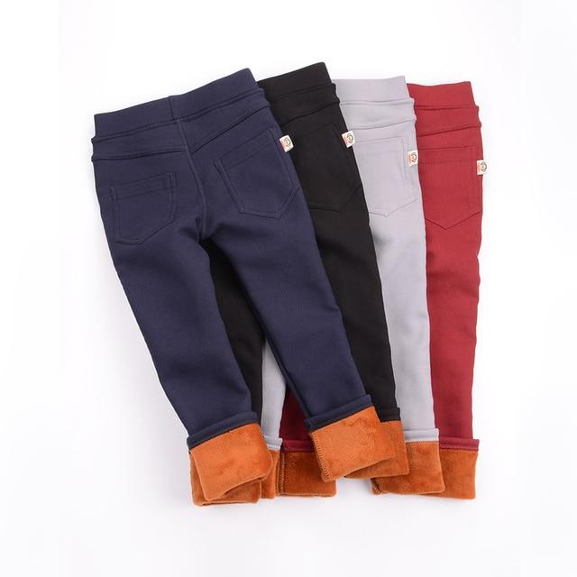 2017 одежда для малышей леггинсы для девочек Теплые штаны хлопковые кашемировые леггинсы детские штаны сплошной цвет карандаш Брюки
