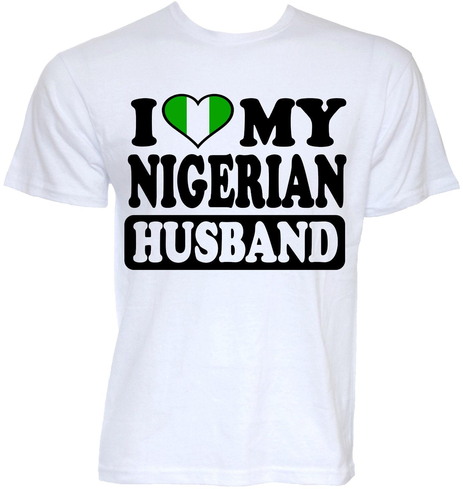 MENS DIVERTENTE NOVITÀ FRESCO NIGERIANO MARITO NIGERIA BANDIERA SLOGAN T-SHIRT SCHERZO REGALI Stampato T Shirt Manica Corta Hipster Tee