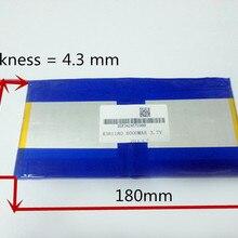 3,7 в, 8000 мАч, [4381180] PLIB(полимерный литий-ионный аккумулятор) литий-ионный аккумулятор для планшетных ПК, pipo M9 pro 3g/max M9 четырехъядерный