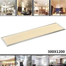 مستطيل LED مصباح لوح 1200X300 42 W الباردة الدافئة الأبيض AC110-240V ديكور غرفة مكتب المنزل الألومنيوم الإطار غطاء السقف مصباح