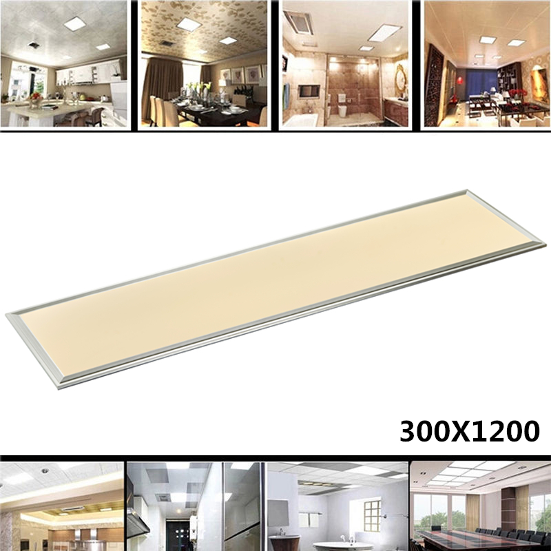 цены Rectangle LED Panel Light 1200X300 42W Cold Warm White AC110-240V Home Office Decoration Aluminum Frame Faceplate Ceiling Lamp