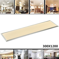 Rectangle LED Panel Light 1200X300 42W Cold Warm White AC110 240V Home Office Decoration Aluminum Frame Faceplate Ceiling Lamp