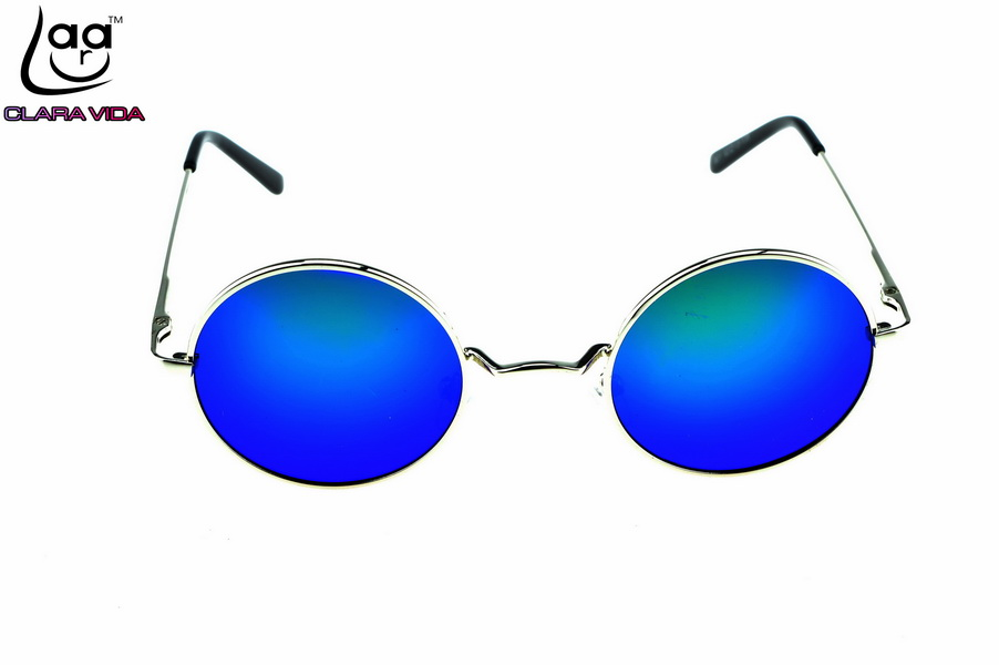 eb8c78d7cc5 CLARA VIDA OZZY BLUE GREEN MIRROR LENSES ROCK STYLE RETRO 100% POLZRIZED  ROUND SUNGLASSES WITH TEST CARD-in Sunglasses from Apparel Accessories on  ...