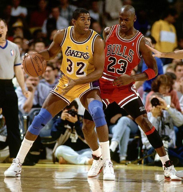 c9936574f4e Magic Johnson VS Michael Jordan Basketball Star Fabric poster 13