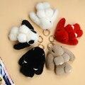 Супер очаровательны Кролик мертвых норки волос кулон ювелирные украшения автомобиля брелки сумка украшения висит вокруг 8 СМ