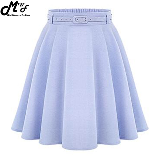 Women's Casual High Waist Pleated Skirt