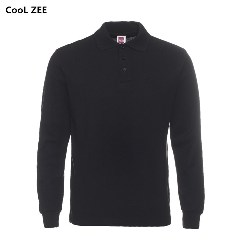 Casual Polo Shirt Men Fashion Long-Sleeve Men's Polos New Arrival Fashion Brand Polo Shirts Man Hot-Sale Slim Polos