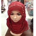 Female/Women Scarf  muslim hijabs , chiffon hijabs Color All-match Pleated Muslim Hijab Hot Fashion Headband Crystal Scarves