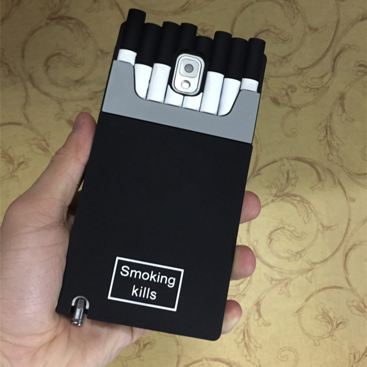 best service ed929 936de US $3.8 |Luxury Channel Smoking Kills Cigarette Case for iPhone 4 4s 5 5s  5c 6 6 Plus Samsung Galxy S5 S6 Note3 Note 4 Silicone Cover on ...