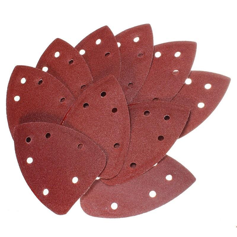 100 Quick Fitting Sander Pads Mouse Sanding Sheets Sandpaper Detail Sand Paper