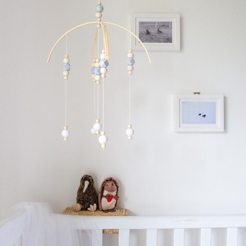 Boho Wooden Peal Baby Mobile