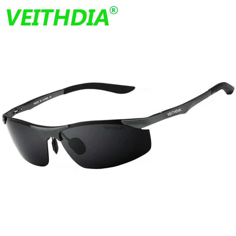 VEITHDIA Aluminum Magnesium Brand Designer Polarized Sunglasses Men's Glasses Driving Glasses Summer Eyewear Accessories for Men