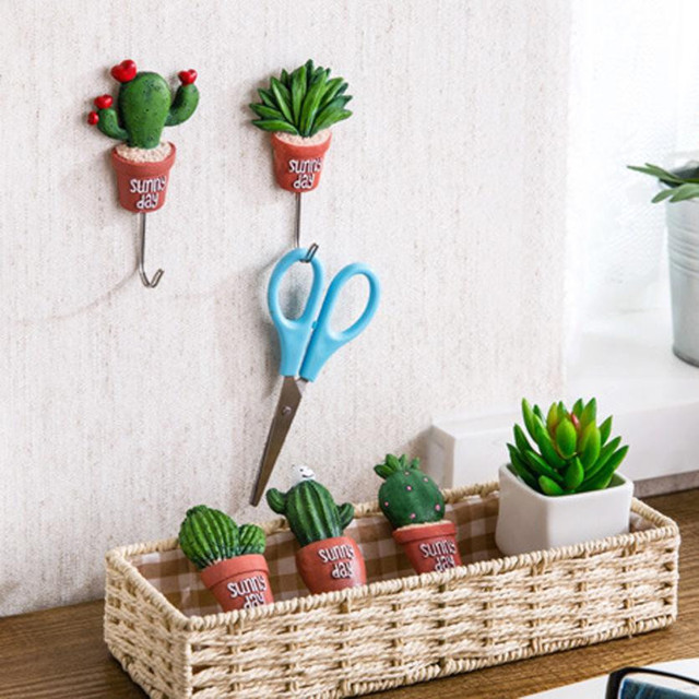 Newest Creative Simulation Succulent Plants Pot Strong Self Adhesive