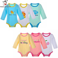 3Piece/Lot Baby Bodysuit Newborn fashion Baby clothes Long Sleeve Colorful Cotton Roupas Bebes Jumpsuit Infant Baby Girl boy set