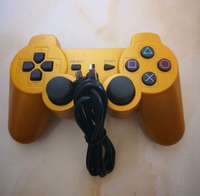 Better SixAxis double vibration For SONY PS3 Controller Bluetooth Gamepad Joystick Wireless Console Sony Playstation 3 Golden