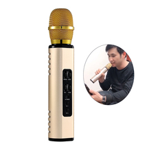 K6 Wireless Bluetooth Microphone Portable 3-In-1 Wireless Karaoke Microphone Pocket Mic with Speaker TF Card AUX Plug стоимость