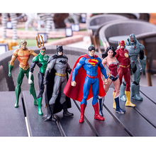 18 CM The Flash Batman Action Figure Super Hero Wonder Woman Justice-League Comics Lovers PVC  Movable Model Toys