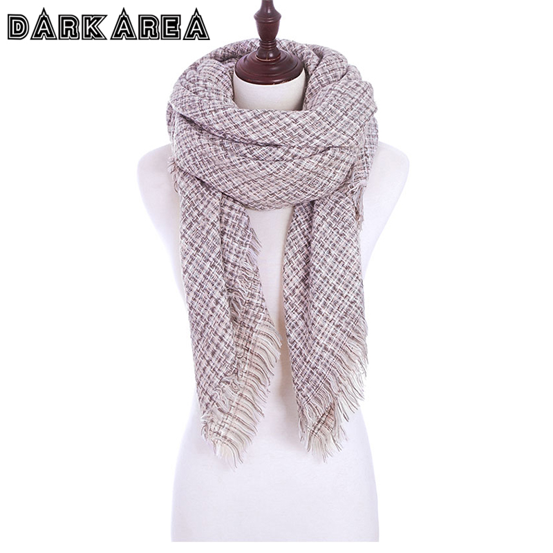 DARKAREA Winter Scarves For Women Female Shawls Cashmere