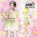 Flor Faerie Trajes Duende Hada Hermosa Venta Vestido de Halloween Cosplay Princesa Niñas de Las Flores Vestido de Bola Del Partido