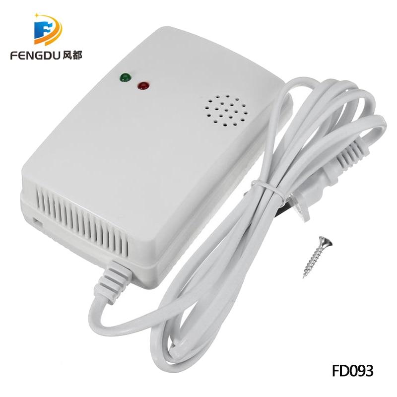 Household Gas Sensor Wall Mounting Type 220V Gas Detector Natural Gas Sensor LPG Alarm Monitor Portable