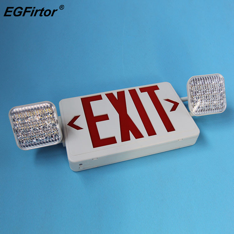 Security Alarm Fire Emergency Light Safety Exit Indicator Light Double Head Evacuation Indicator Light For Fire Alarm Protection