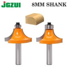 1 pc 8mm Shank עגול מעל נתב Bits לעץ נגרות כלי 2 חליל endmill עם נושאת כרסום חותך פינה עגול מעל קצת