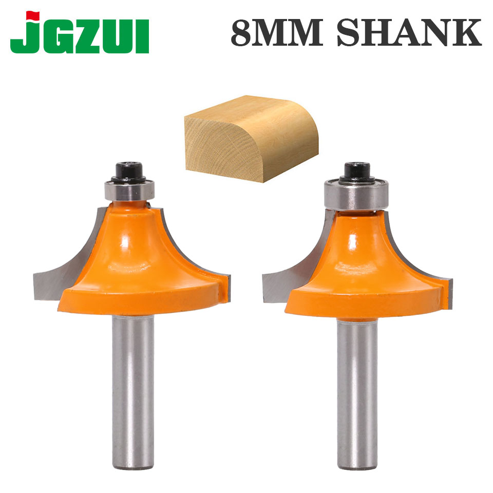 1pc 8mm Shank Round-Over Router Bits For Wood Woodworking Tool 2 Flute Endmill With Bearing Milling Cutter Corner Round Over Bit
