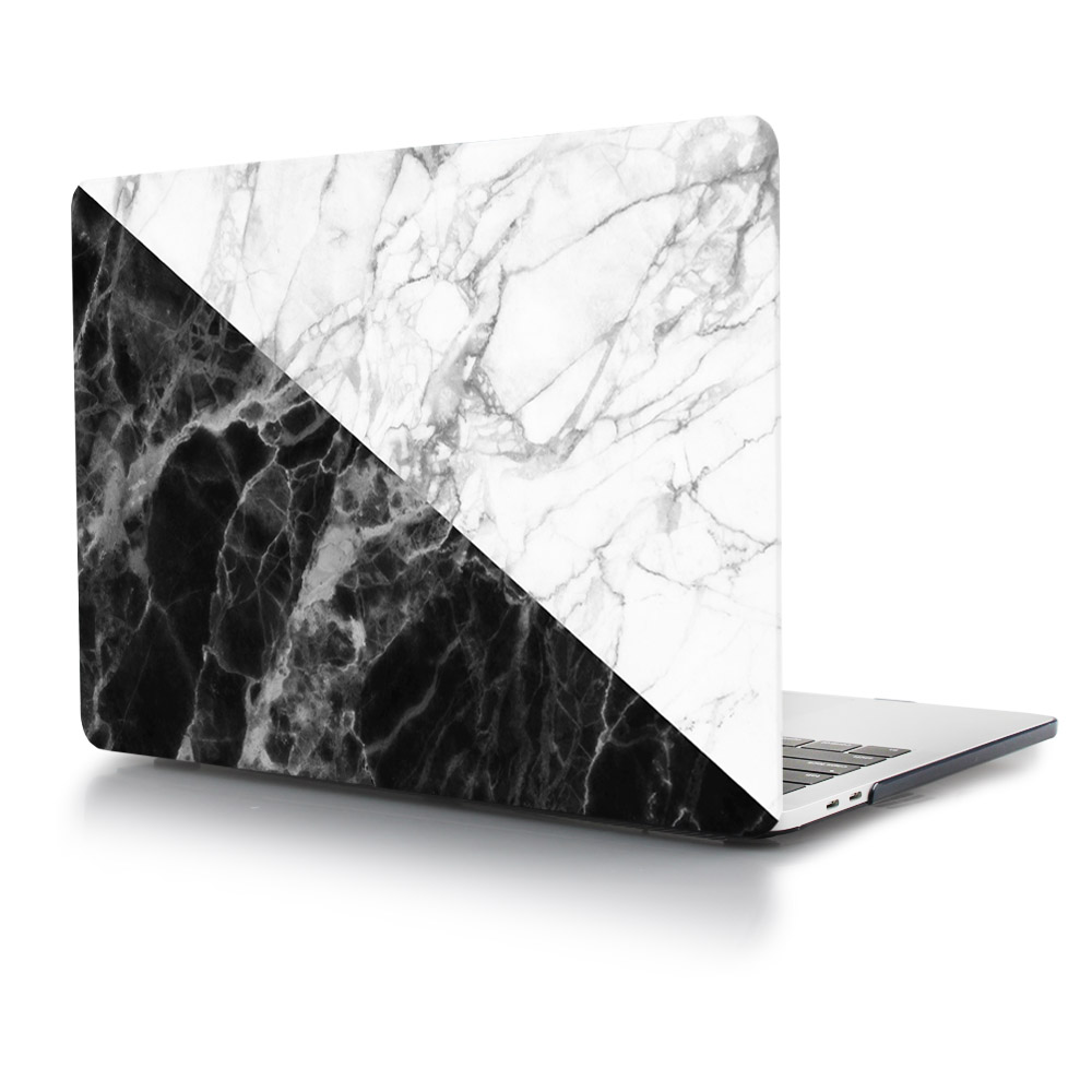 Black And White Marble Puzzle Abstract Print Hard Case