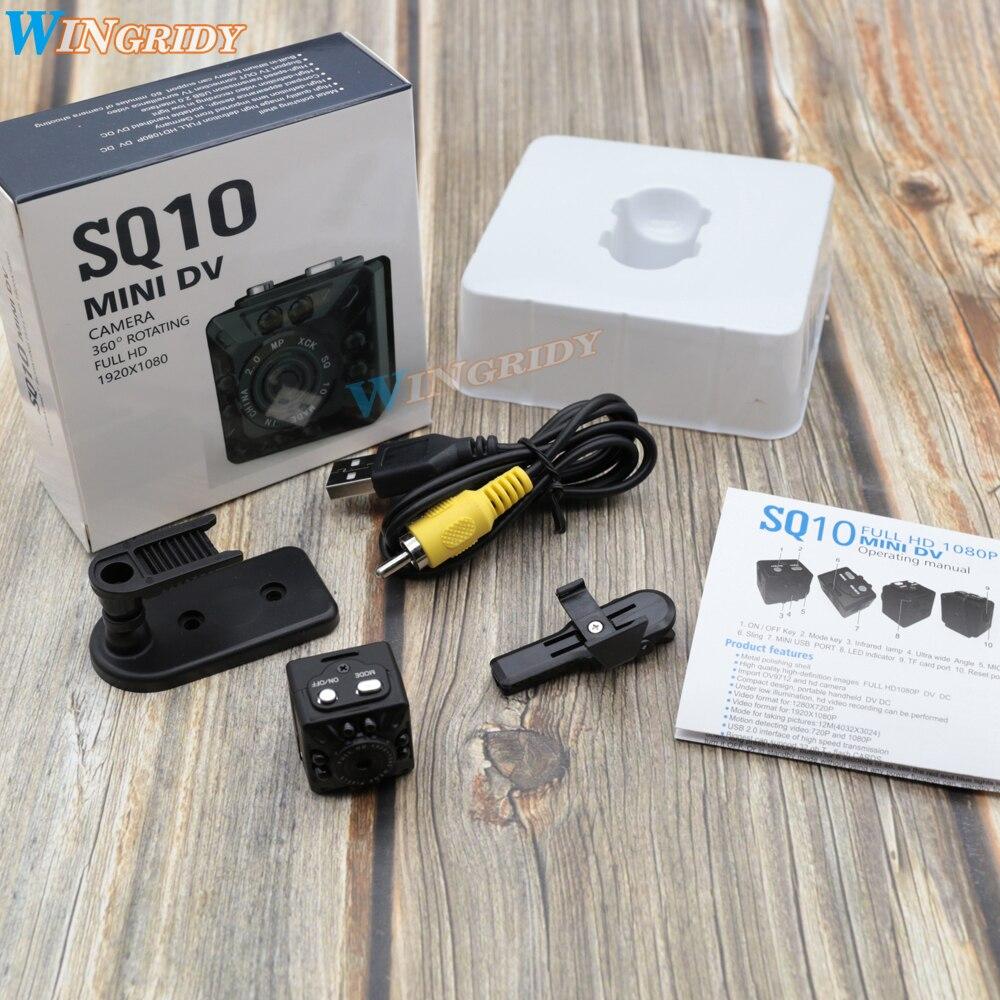 SQ10 100% D'origine Mini Caméscope Mini Nuit Full HD 1080 p Caméra Enregistreur HD Motion Sensor Micro USB Caméra Infrarouge vision Cam