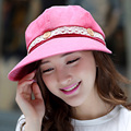 2016 Women Fashion Anti-uv Quick-drying Sunhat Summer Cap Brown Windproof Sunscreen Rope Folding Hats B-2274