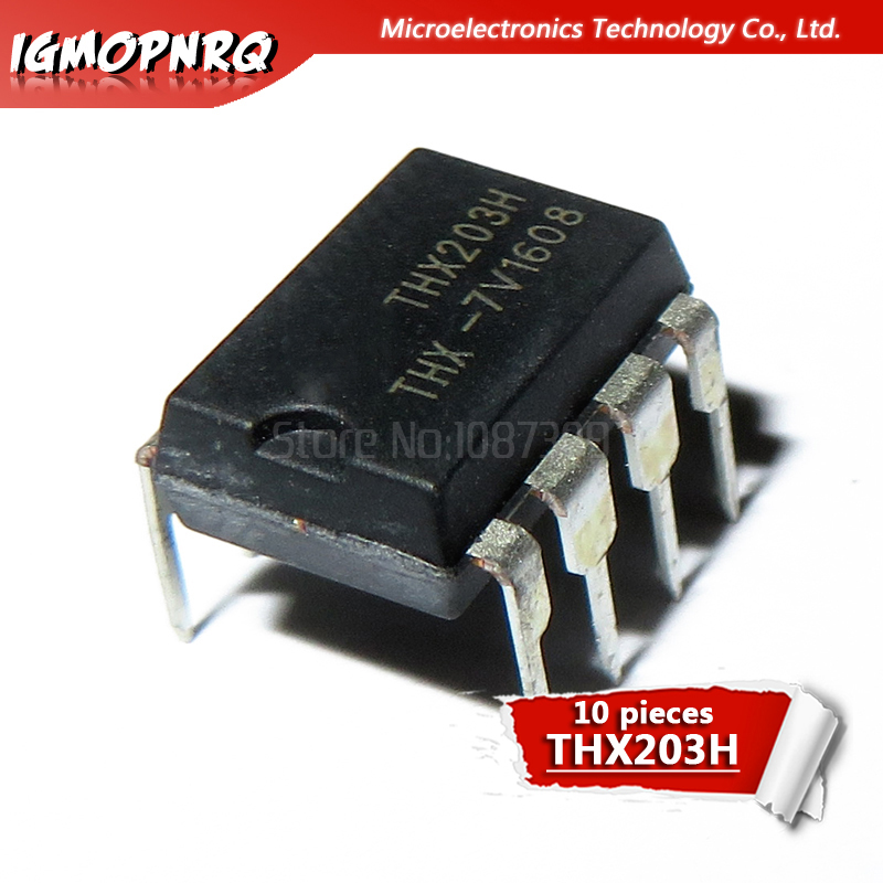 10pcs THX203H THX203 DIP8 PWM Switng Converter DIP-8 New Original