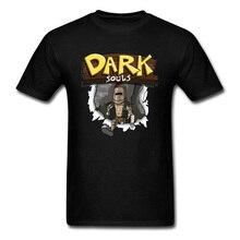 Dark Souls Tops & Tees Men Tshirt Game Graphic T Shirt Slim Fit Summer T-shirt Soul 3 Praise The Sun Custom Clothes Hip Hop