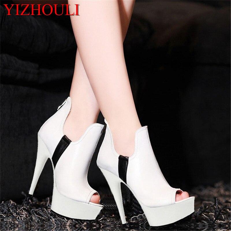 Pour 15 Bouche Blanc Mariée Talons Cm blanc Noir Noir Chaussures Poissons Fou Centimètres Est À Disponible La De Mariage Simples Alimentaire Hauts dwxFqZ