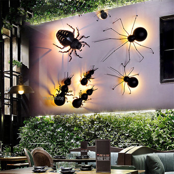 Loft Industrial style LED Wall lamp Nordic Restaurant Spider wall sconce lighting light fixture Corridor Retro decor Wall lights