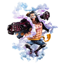 Anime Figure 28CM Big Size One Piece Gear Fourth Monkey D Luffy PVC Action Figure Collectible Model Toy 8 66statue one piece the straw hat pirates monkey d luffy vs rob lucci gk action figure collectible model toy 22cm box d822