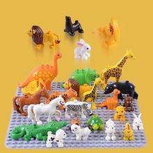 Animais de Brinquedo clássico Big Building Block Set Bricks Educacional Modelo Animal Brinquedos do Presente do Natal Para O Miúdo Do Bebê Crianças Brinquedo Duploe