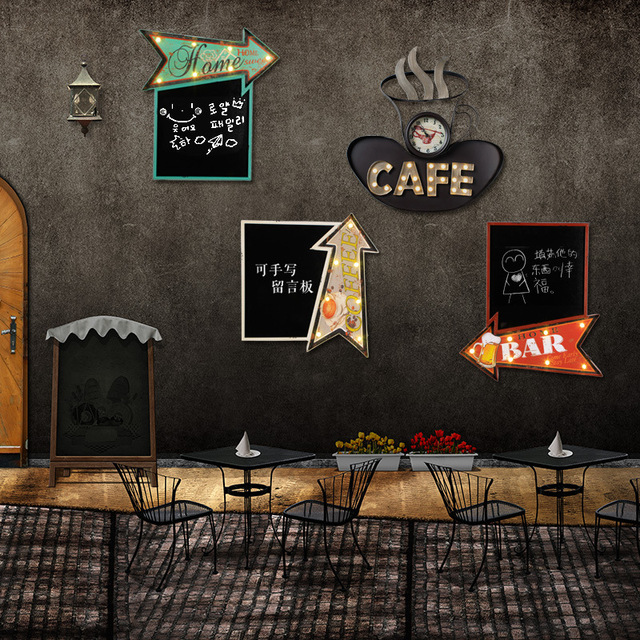 seta forma home bar sinais de n on luminoso placa de metal do vintage caf cerveja cafe rel gio. Black Bedroom Furniture Sets. Home Design Ideas