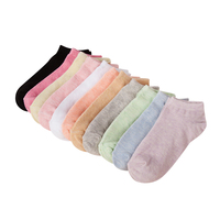 Ladies Cotton Socks Breathable Casual Woman Socks Winter Candy Colors Breathable Short Tuibe Socks For Women 3pairs/Lot