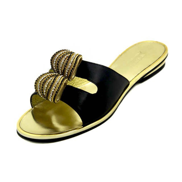 d3a61a6f3 Famous Design Black Crystal Sandals 2016 Summer Womens Flat Sandals Slippers  Latest Women Rhinestone Shoes Large Size Shoes